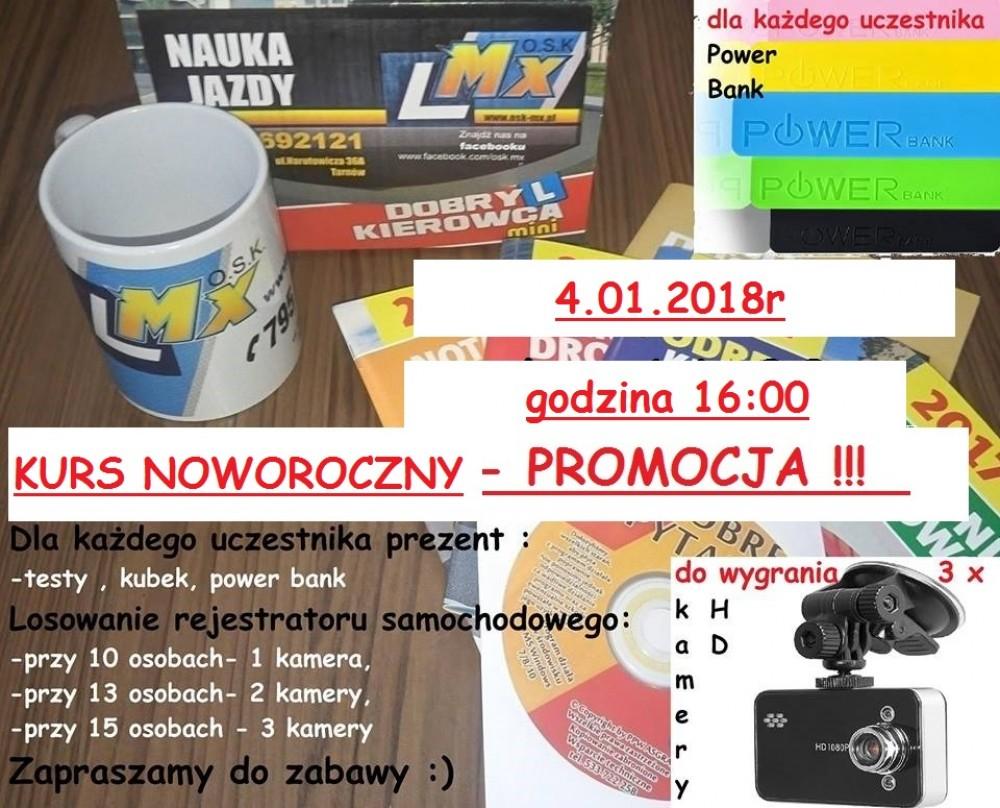 kurs noworoczny 4.01.2018r Promocja !!!